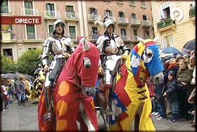 Knights forming part of the cavalcade, Valencia 2008
